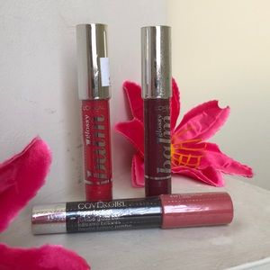 L'Oréal Glossy Balms and CoverGirl BUNDLE OF 3